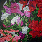 Flowers, painting by Jack Knight
