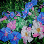 Morning Glories, painting by Jack Knight