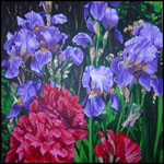 Irises, painting by Jack Knight