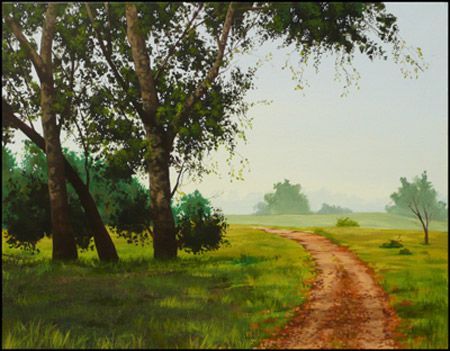 O Neill Park ,16 x 20 Acrylic on Canvas by Jack Knight, Painter