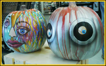 Eyes Pumpkin painted by Jack Knight, Painter