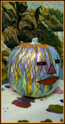 Graphic Pumpkin painted by Jack Knight, Painter