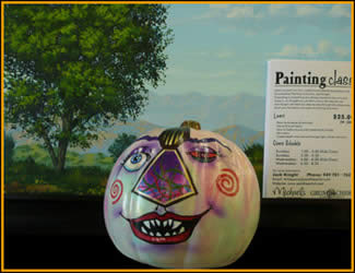 Redeyed Pumpkin painted by Jack Knight, Painter