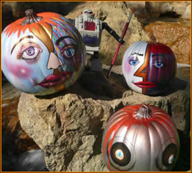 Three Pumpkins painted by Jack Knight, Painter