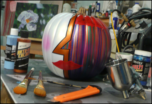 Plastic Pumpkin painted by Jack Knight, Painter