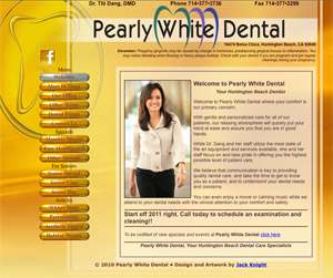 Pearly White Dental by Jack Knight, Artist and Orange county SEO specialist